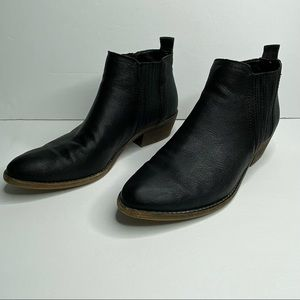 Steve Madden Tallie black leather heeled boots 8.5
